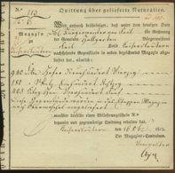 1815 Kaiserslautern,Quittung über Gelieferte Naturalien - Historical Documents