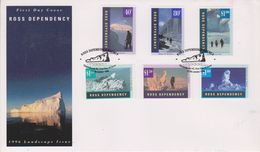 Ross Dependency 1996 Gletscherlandschaften 6v FDC (49122) - FDC