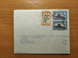 EX-PR-20-07-115 LETTER FROM COLOMBO, CEYLON TO PRAHA, CZECHOSLOVAKIA. - Ceylon (...-1947)