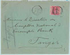 BK0249  -  MOROCCO AGENCIES - POSTAL HISTORY: COVER : MOGADOR To TANGIERS 1902 - Morocco Agencies / Tangier (...-1958)