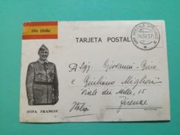 GUERRA DI SPAGNA  - VIVA ESPANA VIVA FRANCO- TIMRO PM. - War 1939-45