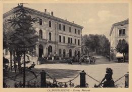 Veneto - Treviso - Valdobbiadene - Piazza Marconi  - F. Grande - Viagg - Anni 50 - Molto Bella Animata - Italie