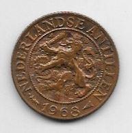 *netherlands Antilles 1 Cent 1968 Star End Fish  Km 1  Unc /ms63 - Antillen (Niederländische)