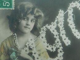 CPA  FILLETTE  Grete Reinwald  Bonne Année 1910   Détails Repeints - Portraits