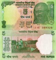 INDIA, 5 RUPEES, 2010, P94, UNC - India
