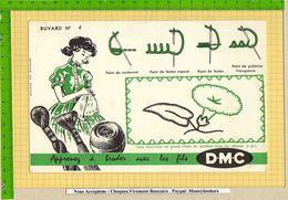 BUVARD : Apprenez A Broder  Avec Les Fils DMC  N° 4 Vert - Textile & Vestimentaire