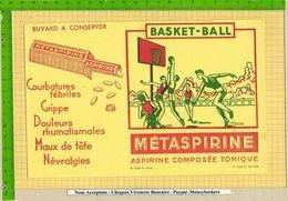 BUVARD : METASPIRINE  Basket Ball - Drogheria