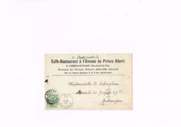 Uccle,café Restaurant à L'avenue Du Prince Albert ,H.Vermeir Puttaert,marchand De Vins,carte Postale Ancienne 1902. - Uccle - Ukkel