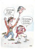 Illustration Illustrateur Siné Ah ça Ira Bi Centenaire Revolution Française Decapitation CPM - Sine