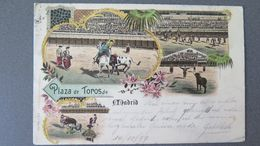 MADRID - PLAZA DE TOROS DE MADRID - LITHOGRAPHIE - KÜNZLI, ZÜRICH NR. 906 - CIRCULÉE EN 1897 - Toros