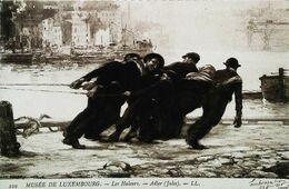 Cpa LES HALEURS  (Jules Adler) - Bateau Péniche GABARRE (Barge, Aak, Lastkahn) - Péniches