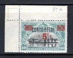BEL. CONGO 85A MNH 1921 - Opdrukken Op Vroegere Uitgifte - 1894-1923 Mols: Postfris