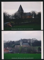 2 FOTOS  MOLENBEEK WERSBEEK   SINT LAURENTIUSKERK   15 X 10 CM   ( 2005 ) - Sonstige