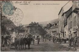 15 - MURAT - Rue Du Faubourg Notre-Dame Très Animée ( Attelage De Boeufs Et Chevaux ) - Murat