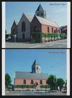 2 FOTOS  SINT ELOOIS VIJVE  KERK   15 X 10 CM   ( 2005 ) - Waregem