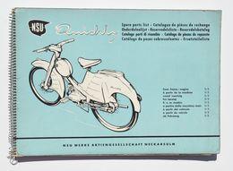 Moto, Mobylette, Vélomoteur : NSU Quickly 1957 - Catalogue De Pièces De Rechange, Onderdelenlijst, Reservdelskatalog - Moto