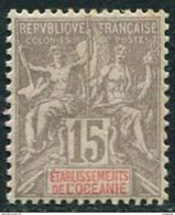 Oceanie RF 1900. Michel #16 F/VF/MH. Allegory Of Peace And Trade (Ts48) - Nuovi