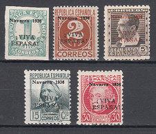 Locales Patri�ticos Pamplona 1936 Edifil 1/5 ** Mnh - Emisiones Nacionalistas
