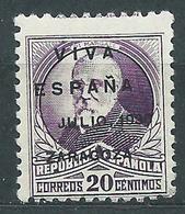 Locales Patri�ticos Zaragoza 1937 Edifil 22 ** Mnh - Emissions Nationalistes