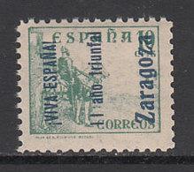 Locales Patri�ticos Zaragoza 1937 Edifil 49 ** Mnh - Emissions Nationalistes
