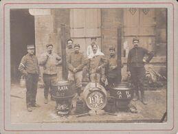 Photo Originale WW1 Moselle Dieuze Militaires Cuisiniers 3 E Régiment D'infanterie Popote Extérieur Beau Plan Ref 962 - Guerre, Militaire