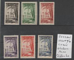 TIMBRES DE FEZZAN NEUF **/*  1950 Y/TELLIER 2011 Nr 6 VALEURS  TIMBRES TAXES  COTE  16  € - Fezzan (1943-1951)