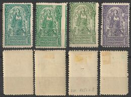 Green Color Variation - 1919 - SHS Yugoslavia Slovenia - VERIGARI Women + Bird Falcon - MH Set - Unused Stamps