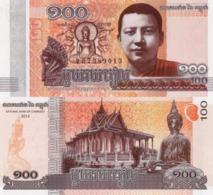 CAMBODIA, 100 Riels 2014, P64, UNC - Cambogia