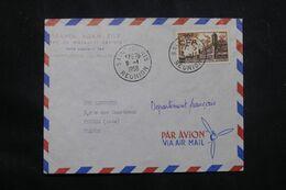 RÉUNION - Enveloppe Commerciale De Saint Denis Pour Troyes En 1958 - L 65865 - Cartas