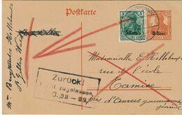 """OC 27 S/E.P. 2 De St. GILLIS-WAES à TAMISE + Obl. """"Postüberwachtungsstelle 33 Du 18-9-17 + ZURÜCK Nicht Zugellassen - Weltkrieg 1914-18"""