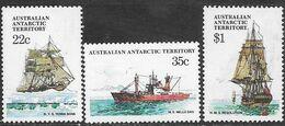 AAT  1974   3 Ships To The $1   MLH   2016 Scott Value $3.10 - Australian Antarctic Territory (AAT)