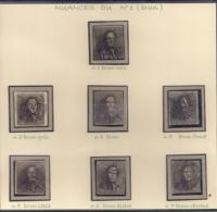 P120-NR.1-N1 TOT N7 CATALOGIS BALASSE -ALLE KLEURNUANCES -RRR - 1849 Hombreras