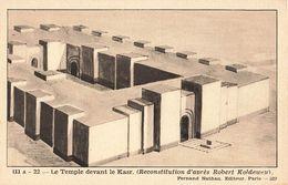 Irak Iraq Babylone Le Temple Devant Le Kasr Histoire Carte Pedagogique Nathan Cpa - Irak