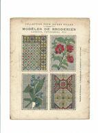Pensées Françaises N'enviez Pas La Santé...BRODERIES Didactique Protège-cahier Couverture 220 X 175 Bien 3 Scans RARE - Schutzumschläge