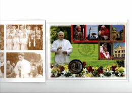 VATICAAN 2 EURO 2007 PAUS BENEDICTUS 80 JAAR NUMISBRIEF NR. 3 SCHAARS - Vaticaanstad