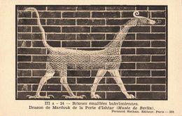 Irak Iraq Babylone Briques émaillées Babyloniennes Dragon De Mardouk Porte Ishtar Histoire Carte Pedagogique Nathan Cpa - Irak