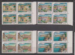 REPUBBLICA:  1993  TURISTICA  -  S. CPL. 4  VAL. BL. 4  N. -  SASS. 2064/67 - Blocchi & Foglietti
