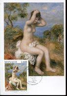 56361 Monaco, Maximum 2019 Painting Of  Auguste Renoir, La Baigneuse S'arrangeant Les Cheveux - Autres