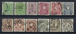 ALLEMAGNE 1875-1880:  Lot D'obl. - Usados