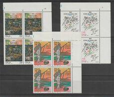 REPUBBLICA:  1993  AVVENIMENTI  STORICI  -  S. CPL. 3  VAL. BL. 4  N. -  SASS. 2070/72 - Blocchi & Foglietti