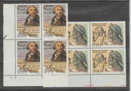 REPUBBLICA:  1990  COMMEMORATIVI  -  2  S. CPL.  BL. 4  N. -  SASS. 1937 + 1938 - Blocchi & Foglietti