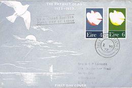 37129. Carta F.D.C. Circulada BAILE ATHA CLIAT (Dublin) Irlanda 1972. THE PATRIOT DEAD - 1949-... Republic Of Ireland