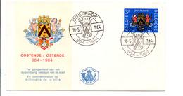 BELGIQUE FDC 1964 MILLENAIRE D'OSTENDE - 1961-70