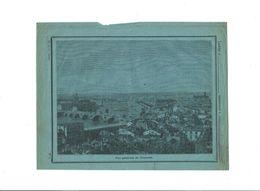 TOULOUSE Vue Générale 19 ème Didactique Protège-cahier Couverture 220 X 175 Bien 3 Scans TRÈS RARE - Schutzumschläge