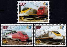 ✔️ België 1998 - Spoorwegen Vignettes €8 Nominaal - OBP TRV6/8 ** MNH - Chemins De Fer