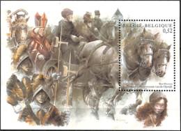 D - [154306]TB//**/Mnh-Belgique 2002 - BL95, St Pauluspaardenprocessie, Cheval De Trait Belge, Le Bloc, Chevaux, Religio - Caballos