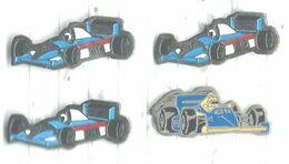 Voiture F1 Bleue Ligier Elf Lot 4 Pins - F1