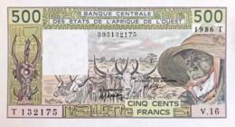 West African States 500 Francs, P-806Ti (1986) - UNC - Togo Issue - Westafrikanischer Staaten