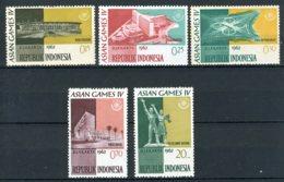 INDONESIE: ZB 359/363 MNH** 1962 4de Aziatische Spelen Te Jakarta - Indonesia
