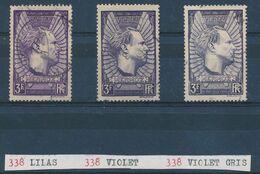 FRANCE - N°338 + 338a) + 338b) OBLITERES  - 1937 - Oblitérés